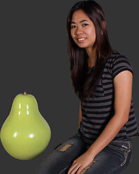 Green Pear Sculpture - Small