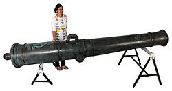 Pirate Cannon Barrel From Spanish Warship Life Size Replica