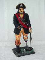 Captain Hook Peg leg Pirate Statue 3FT