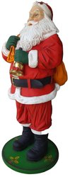 Santa Claus statue with Bell and Gift Bag