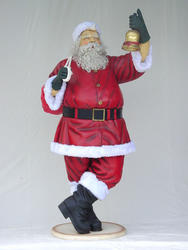 Santa Claus With Bell Statue 8FT