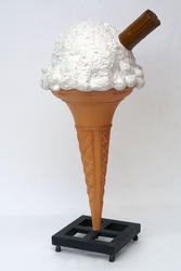 Ice Cream With Metal Base