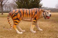 Tiger Statue Life Size Turning Left