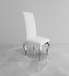 Prime Tricase Modern Dining Chair Upholstered In White Leather Caraccident5 Cool Chair Designs And Ideas Caraccident5Info