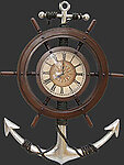 Nautical Clock Ship Wheel Large Wall Decor