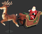 Reindeer for Santa on Sleigh