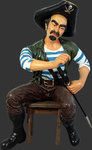 Sitting Pirate Pedro Life Size Statue