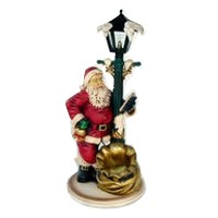 Santa Claus with Lamp Post Christmas Decor Life Size 4FT