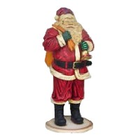 Santa Claus with Bell and Gift Bag Statue Christmas Decor Life Size 6FT