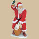 Santa with Real Clothes and Bag 6FT