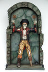 Skeleton Pirate Statue Chained on Wall Life Size Replica 7FT