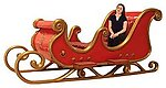 Santa Sleigh Family Size 4 Seater 10FT Long