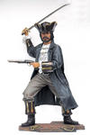 Buccaneer Pirate Life Size Statue Holding Sword and Gun