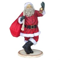 Santa Claus with Beard and Gift Bag Christmas Decor 4.5FT