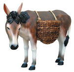Life Size Donkey with Baskets