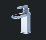 Murcia I Chrome Finish Modern Bathroom Faucet