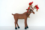 Funny Reindeer Christmas Statue 1FT