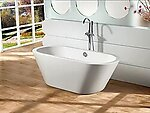 Amadeo Acrylic Modern Freestanding Soaking Bathtub 63