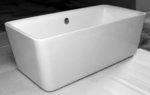 Arzeno Acrylic Modern Freestanding Soaking Bathtub 67