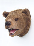 Bear Head Wall Mount Life Size Statue