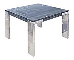 Laterza II Marble End Table - Grey Lines
