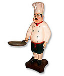 Chef Statue with Skillet Pan 2FT