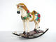 Rocking Horse with Flowers