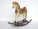 Rocking horse Statue with Gold Leaf Design
