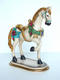 Carousel Horse with Flowers on Base