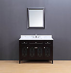 Rocca Transitional Bathroom Vanity Set with Carrera Marble Top Espresso 48