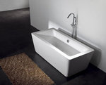 Gratziella II Acrylic Modern Bathtub 63 - NEW DESIGN!