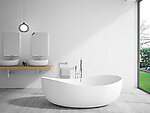 Catanzaro Wide Freestanding Soaking Tub 71