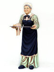 Old Woman Waitress Statue Life Size 6FT
