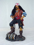 Pirate On Barrel Statue - 3FT