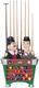 Laurel and Hardy Billiard Ball and Cue Holder