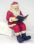 Santa Claus Sitting with Book Statue Christmas Decor 4FT