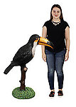 Toucan on Tree Branch Life Size Statue