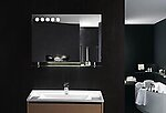 Florence LED Backlit Modern Vanity Mirror with Glass Shelf