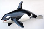 Large Orca Whale Life Size Statue Hanging