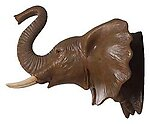 Elephant Head Wall Mount Decor Large