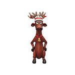 Reindeer Standing Upright Christmas Decor Statue 3.5 FT