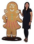 Gingerbread Woman Statue 6FT Christmas Decor