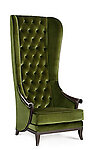 High Back Wing Chair - Duchess Green