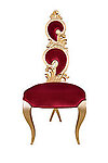 Suzette Modern Dining Chair Red Velvet