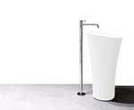 Davoli - Modern Bathroom Pedestal Sink Cast Stone 19.8