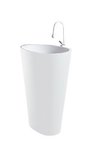 Satri - Modern Bathroom Pedestal Sink Cast Stone 24