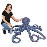 Blue Octopus Large Life Size Statue 5FT