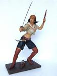 Lady Pirate with Sword Statue Life Size