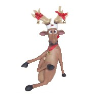 Funny Reindeer Sitting with Cross Legs 2FT