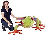 Red Eyed Frog Statue Large Tropical Frog 5FT 3D Wall Mount